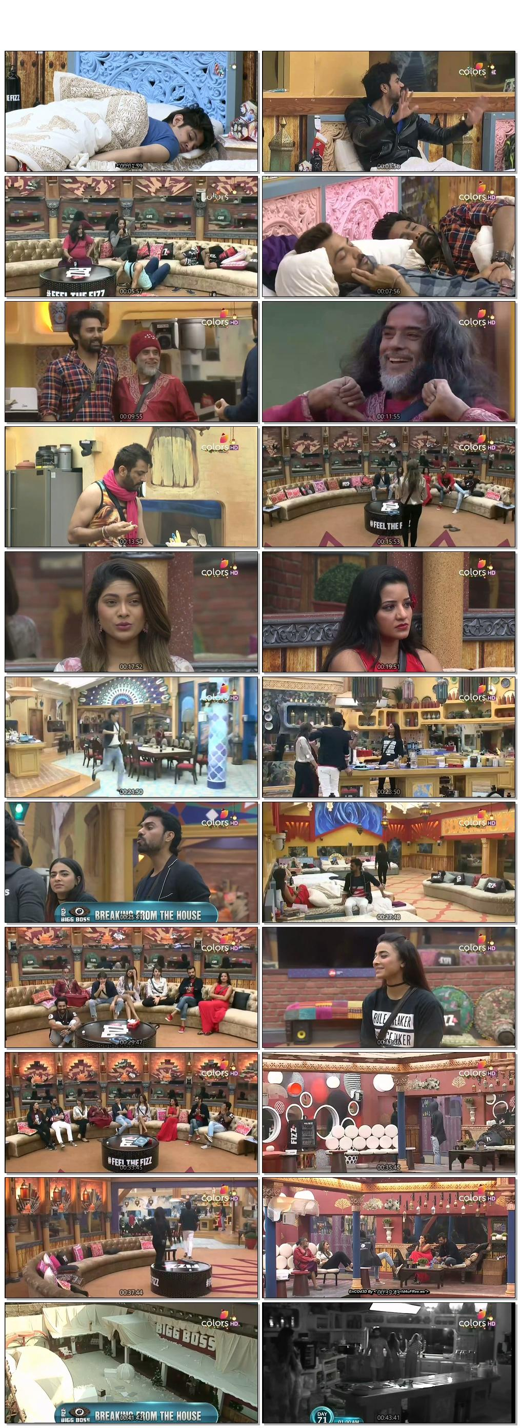 Screenshots Of Hindi Show Bigg Boss 10 26th December 2016 Episode 72 300MB 480P HD