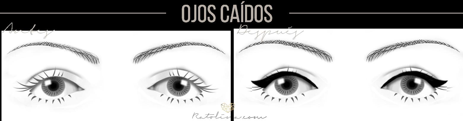 cómo maquillar ojos caídos