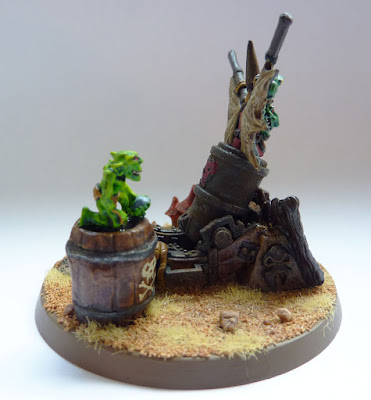 A Goblin Doom Diver conversion from an Empire Mortar