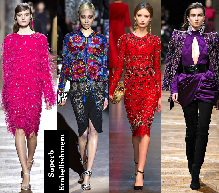 Women's Fall 2013/2014 Trends- Luxury Embroidery Looks