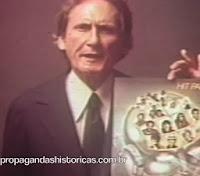 Propaganda da CBS com o lançamento do disco 'Hit Parade 2' em 1980.