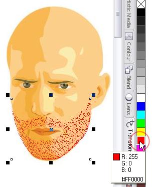cara cepat menggambar jenggot tipis pada gambar vector di