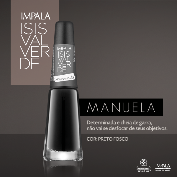 Esmaltes Impala Coleção Isis Valverde Outono/Inverno 2014
