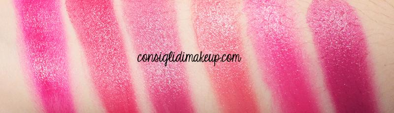 swatches palette rossetti wjcon collezione makeup artist fuxia