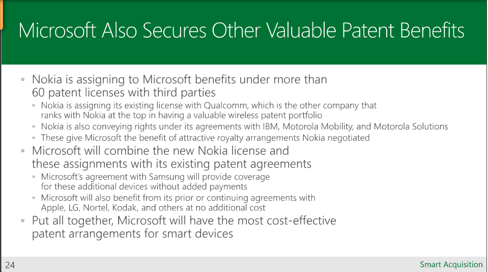 Foss Patents Microsoft Nokia Deal Results In Cost Effective