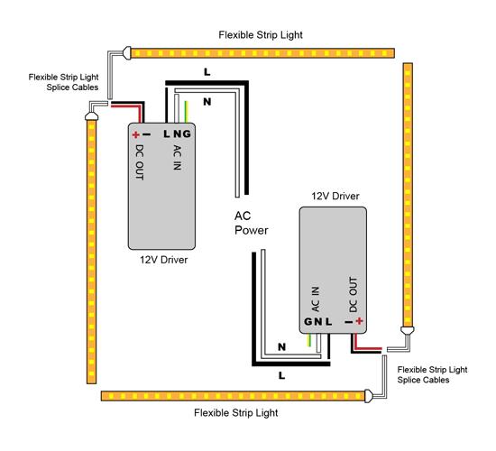 strip light wiring diagram strip image wiring diagram vlightdeco trading led wiring diagrams for 12v led lighting on strip light wiring diagram
