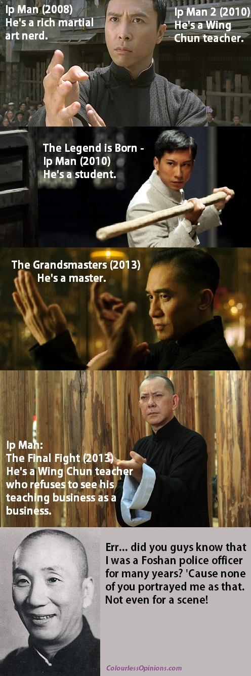 Ip Man Donnie Yen vs Dennis To vs Tony Leung vs Anthony Wong