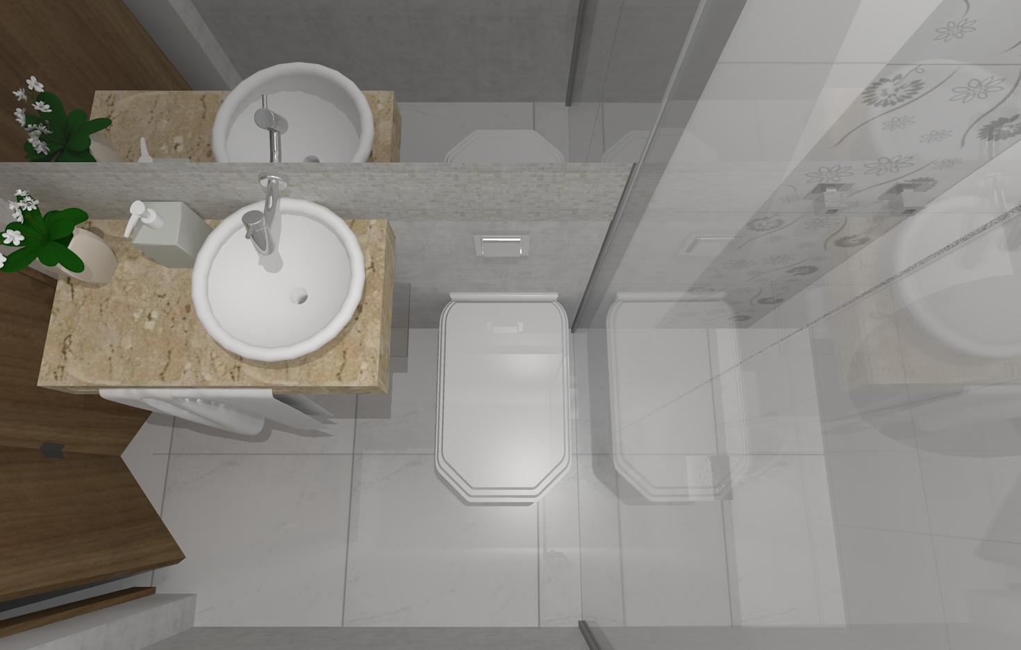 Imagens de #403827 Este banheiro de casal é mais espaçoso. 1470x936 px 3714 Banheiros Planejados Sofisticados