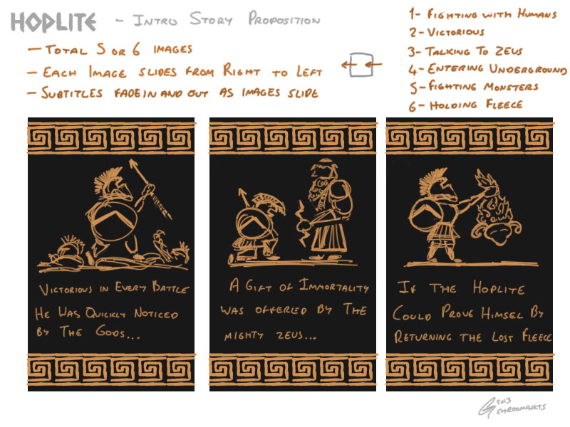 Hoplite - story proposition