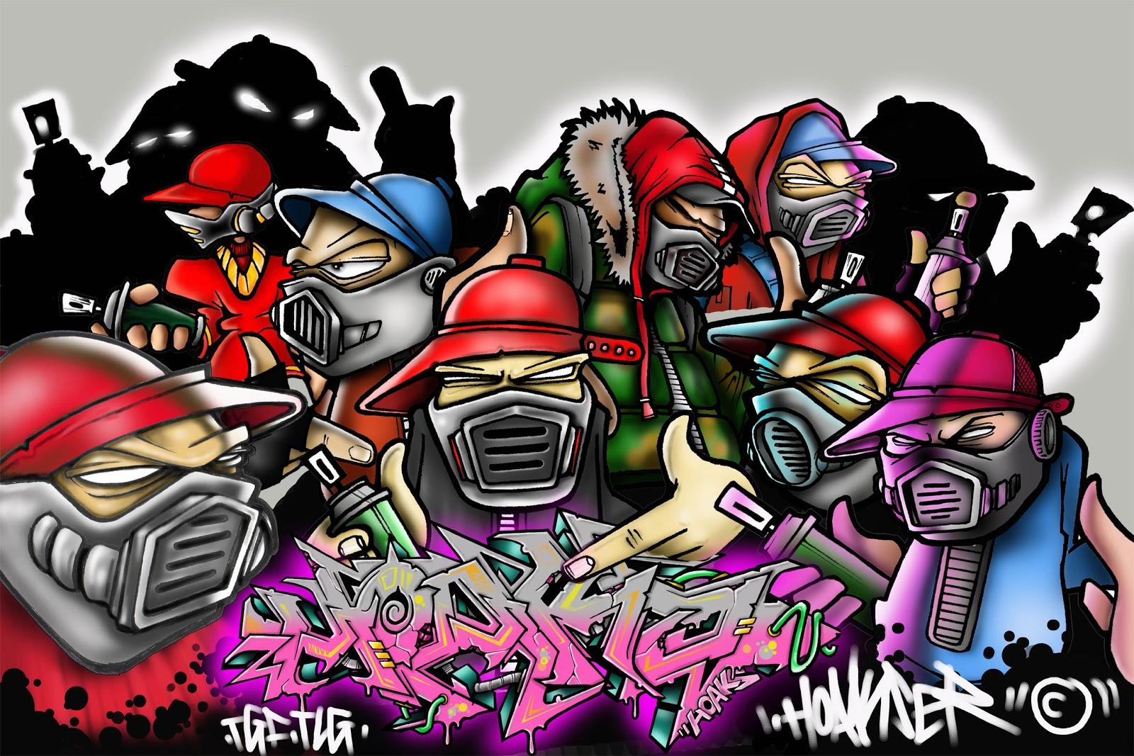 Los graffitis de antes eran sobre todo frases que transmitían ideas