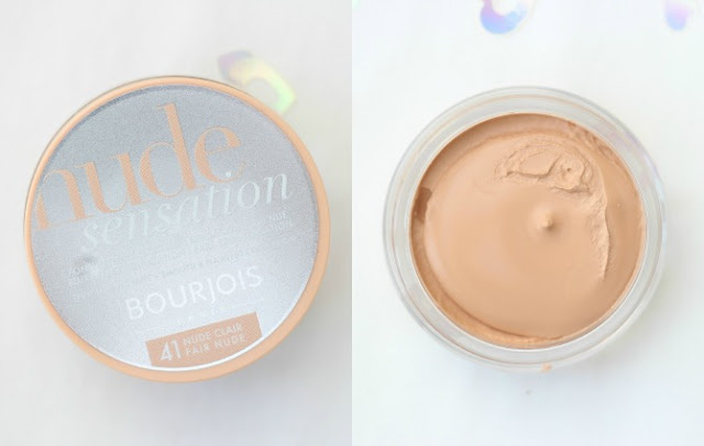 Bourjois nude sensation foundation with the lid off