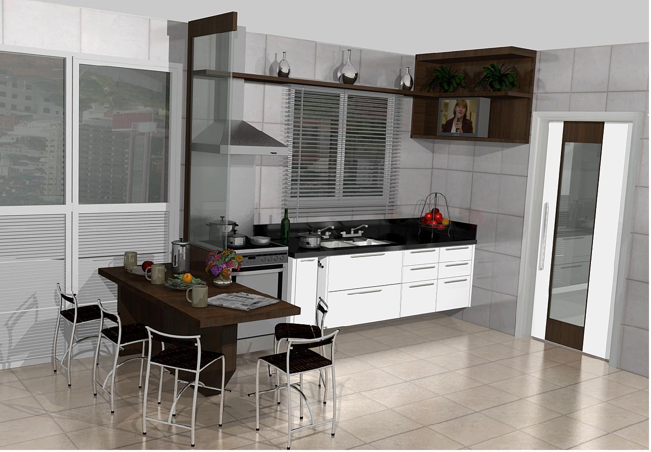 cozinha americana moduladaIdéias de decoração para casa #5D4A40 1279 888