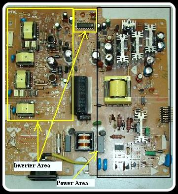 benq%2Binverter%2Bboard dell 2407 and benq lcd monitors power supply regulator board Basic Electrical Wiring Diagrams at fashall.co