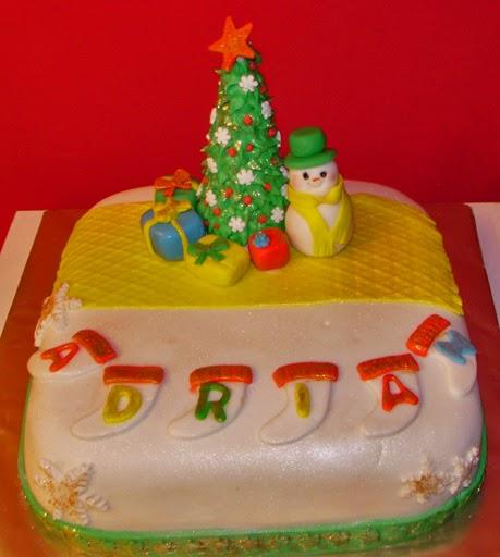 Tarta Fondant, navidad,  cumpleaños