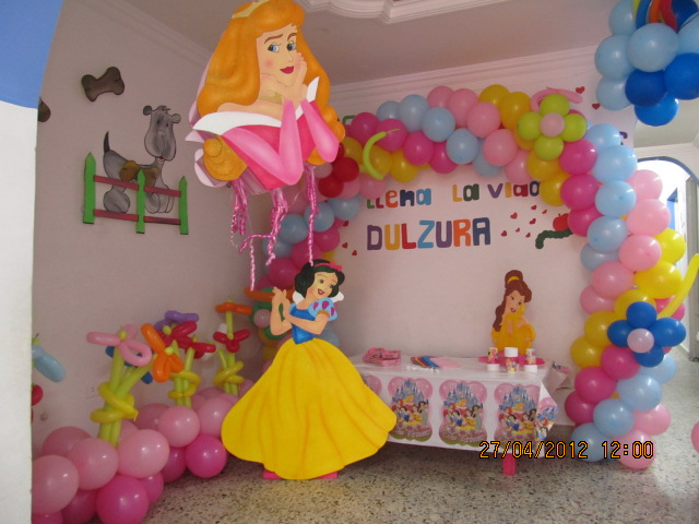 Decoracion princesas disney fiestas infantiles y for Decoracion cumpleanos princesas