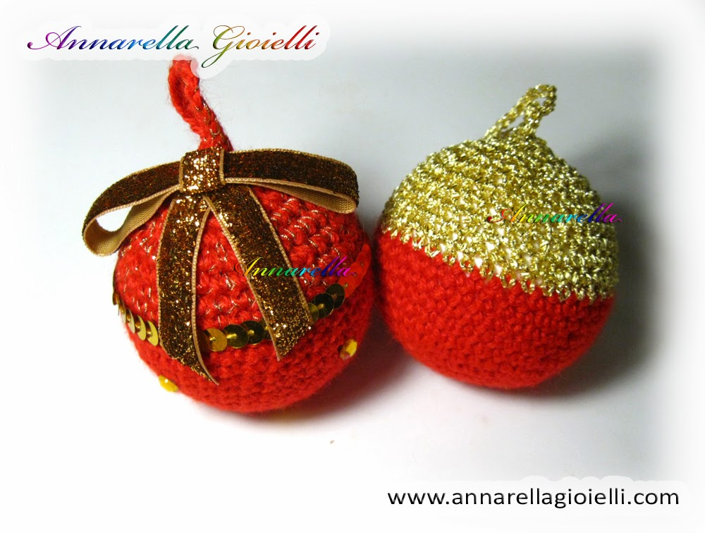 Amigurumi Tutorial Natale : Annarella Gioielli: Palla di Natale alluncinetto ...