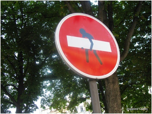 humurous signs by French artist Clet Abraham