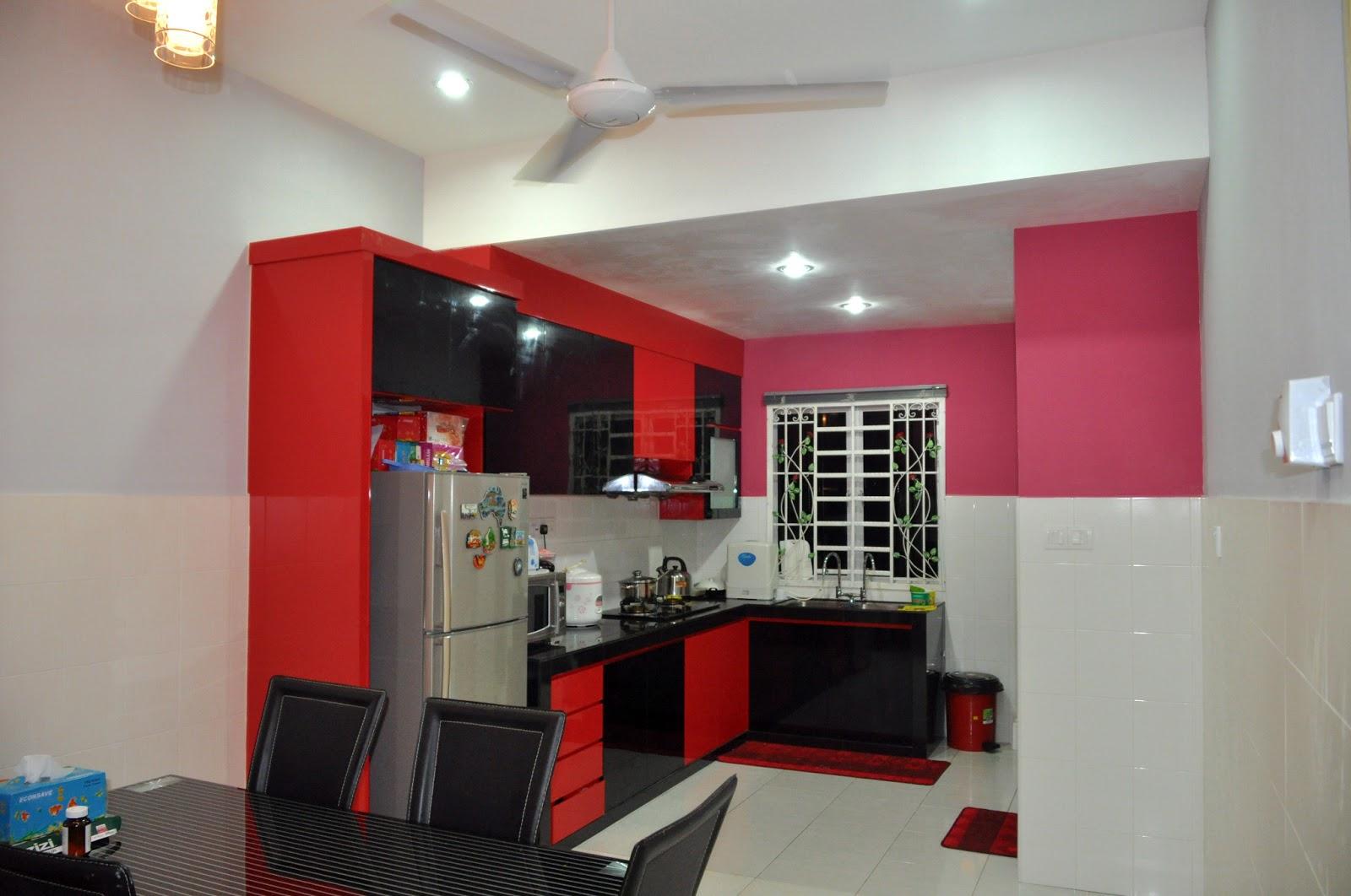 contoh memilih warna cat dapur rumah minimalis rumah