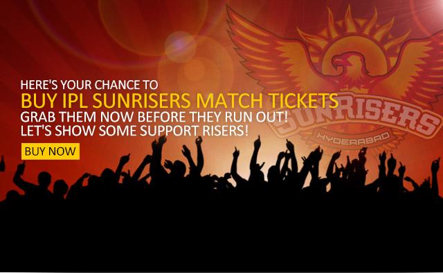 Buy Sunrisers Hyderabad (SRH)  IPL 2014 Tickets Online Booking
