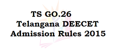 Telangana DEECET Admission Rules 2015