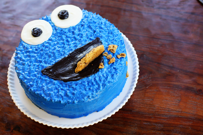 a Cookie Monster birthday cake! | Sweet Anna's