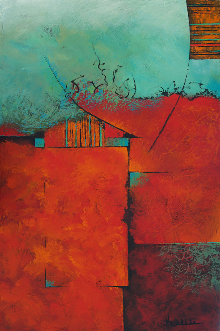 Abstract artists international impending by california for Abstract art mural