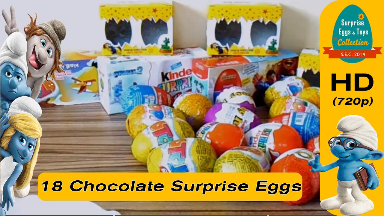 18 Sürpriz yumurtalar, Kinder şirinler, Angry Birds ve Oyuncaklar