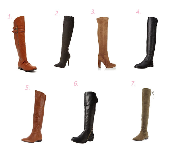 Choices of over the knee boots for fall