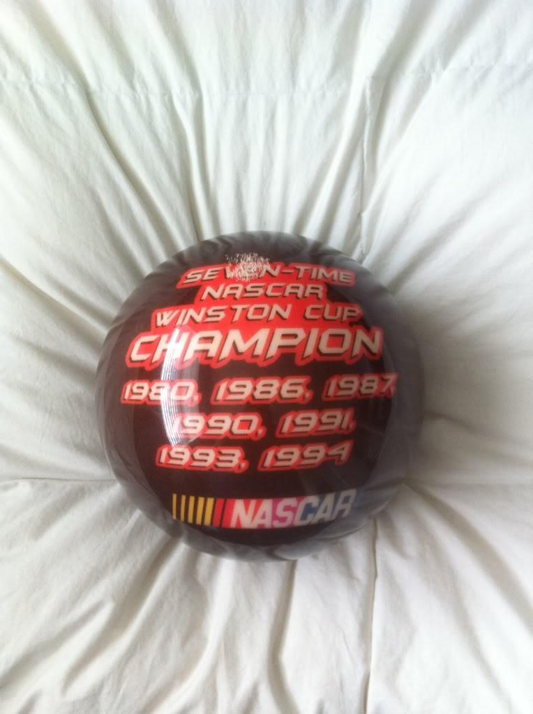 Nascar bowling ball