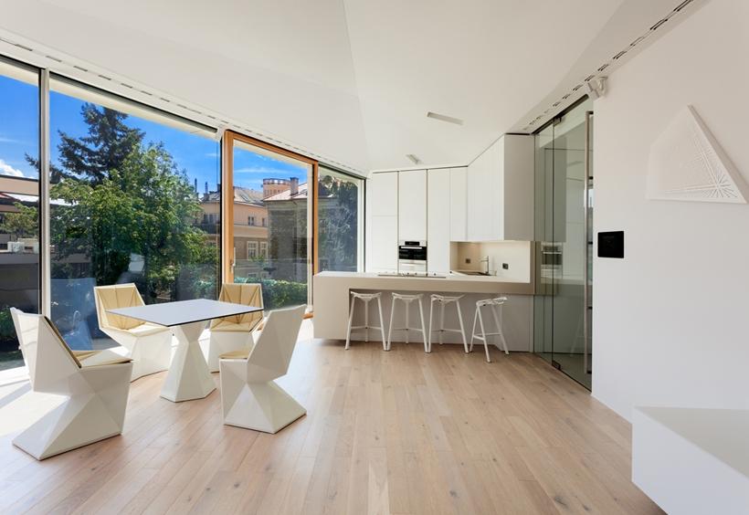 Kitchen in Ultra Modern House by architekti.sk, Slovakia