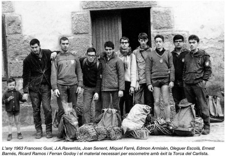 """Any 1963 País Basc. Exploració a la """"Torca del Carlista"""" avenç de més de 300 m. de profunditat.."""