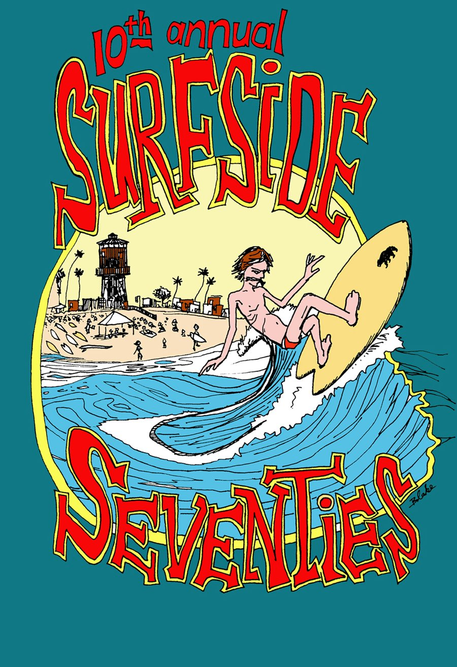 2008 10th annual Surfside Seventies Poster