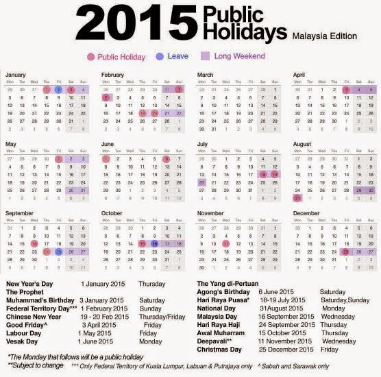 2015 Public Holidays in Malaysia are Packed with 11 Long Weekends ...