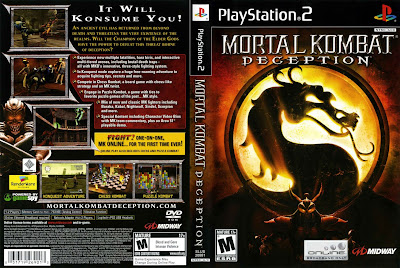 Mortal Kombat Deception PS2 DVD Capa