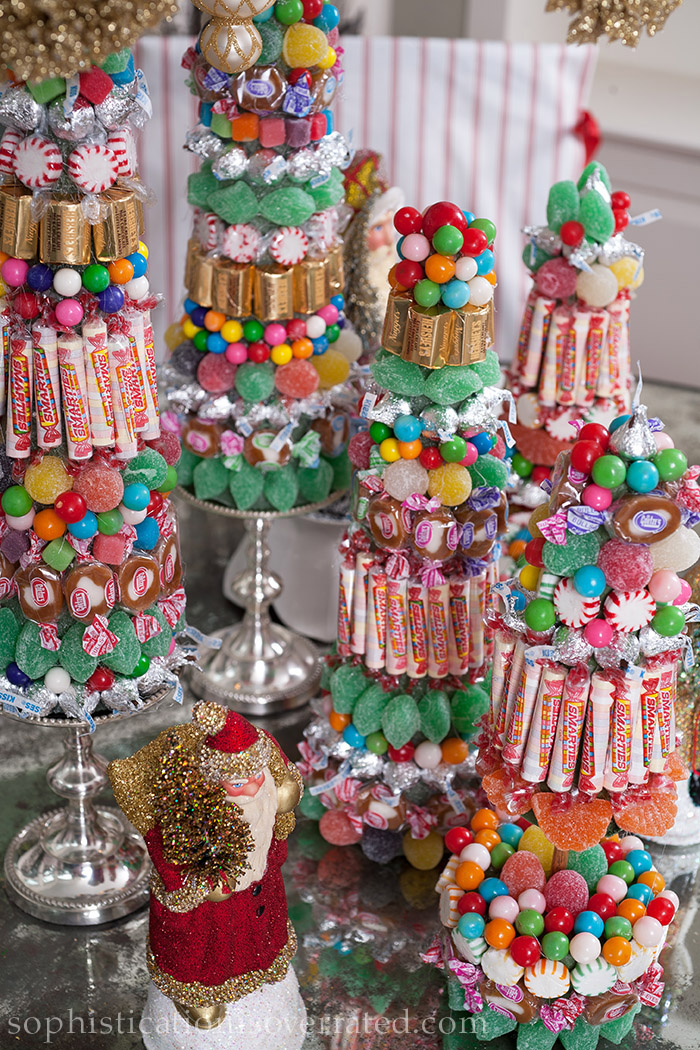 Holiday centerpieces created with Christmas candy by Susan Palma and Babs Horner included in Sophistication is Overrated