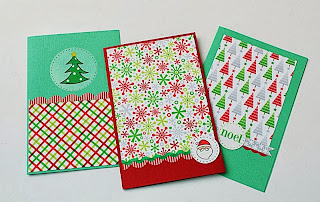 SRM Stickers Blog - Christmas Card Gift Set by Yvonne - #cards #christmas #borders #stickers #twine #feather #CAS #glassine bag #gift