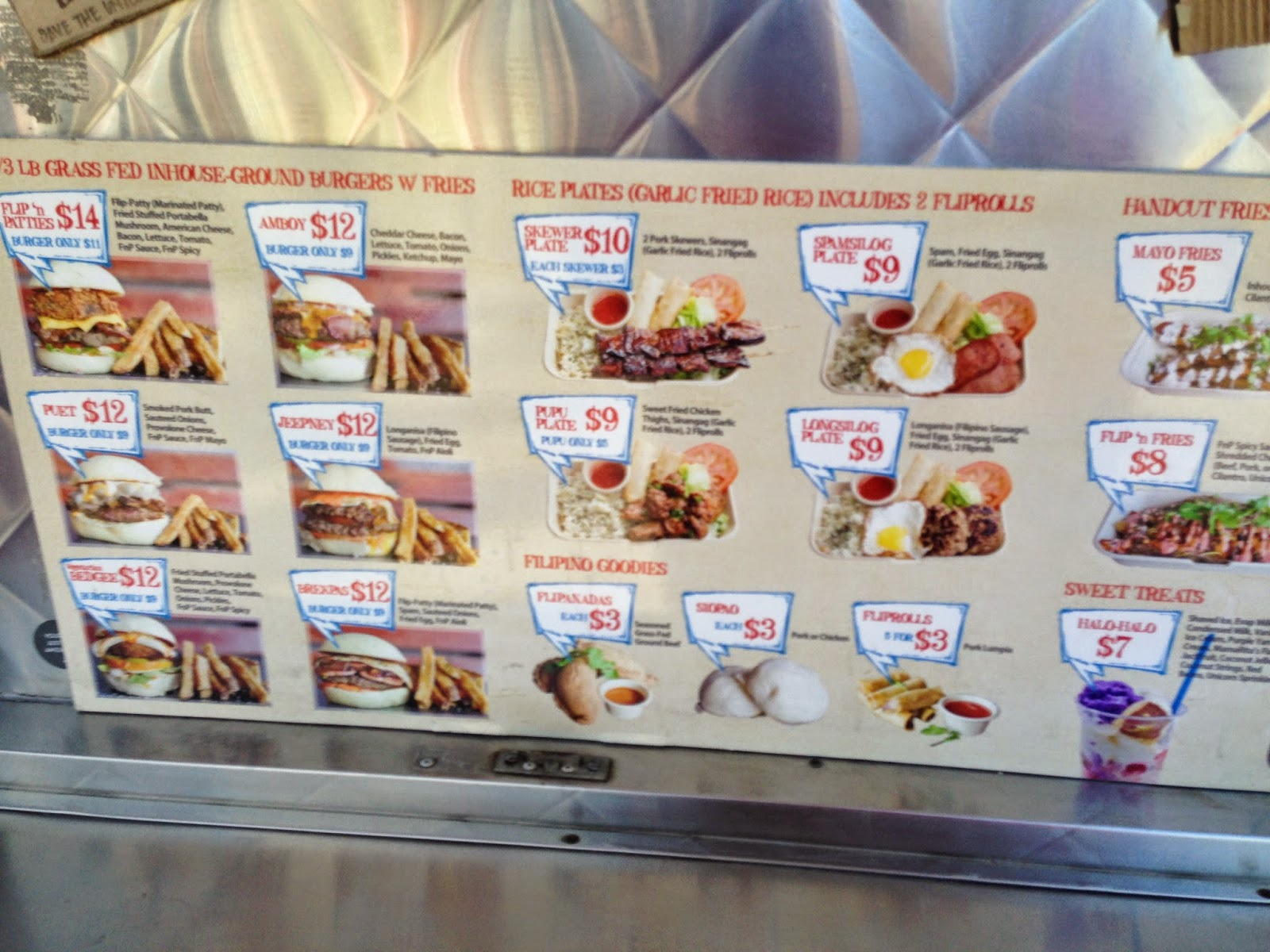 Flip'n Patties Food Truck Menu