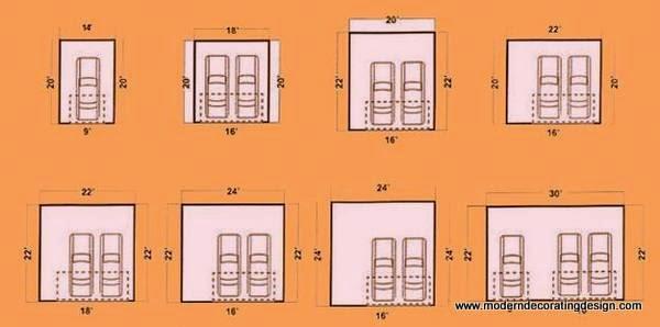 2 car garage door size 2