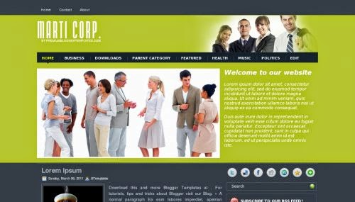 MartiCorp - Free Blogger Template