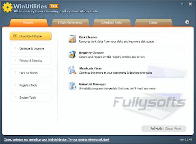 Download WinUtilities Professional 11.44 Incl. Keygen