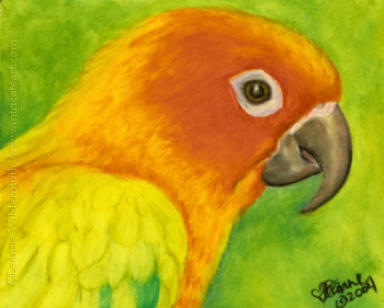 Lizink creations oil pastels for Easy animal paintings