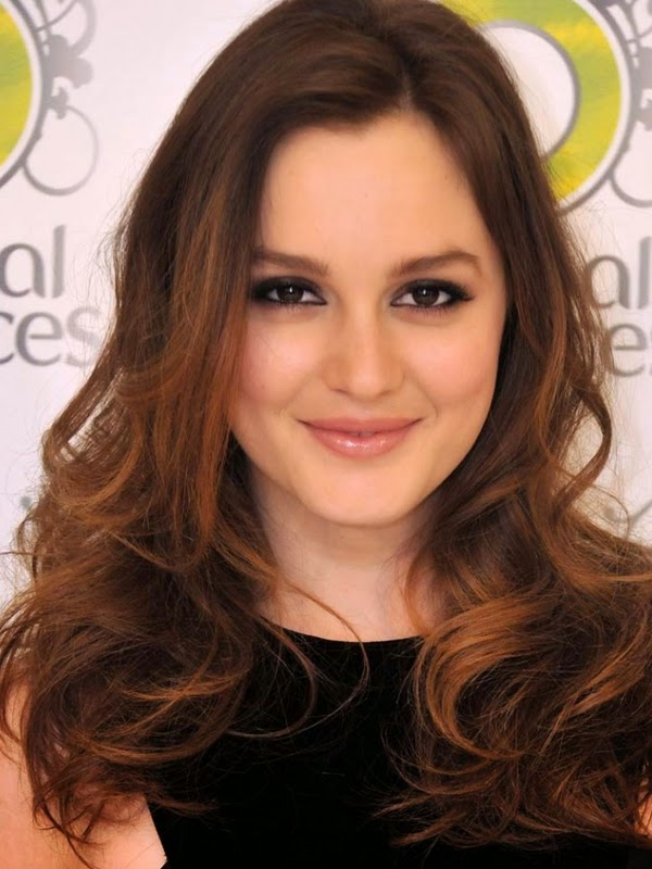 Leighton Meester -celebrity hair highlights look