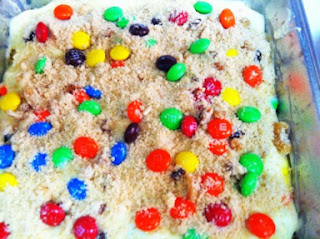 Weight Watchers M&M Cheesecake Squares Recipe
