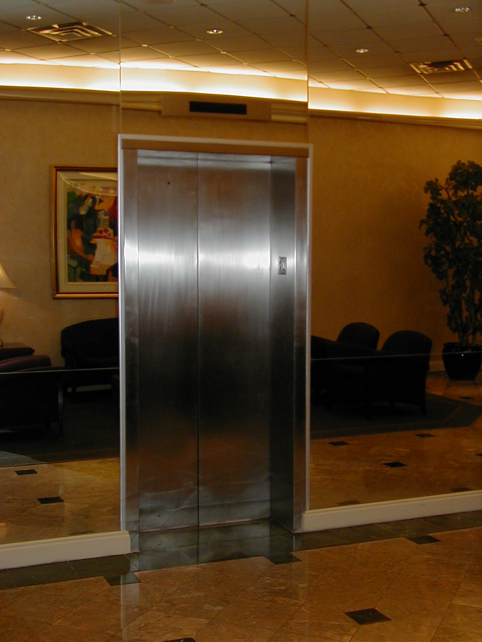 Stainless Steel Elevators : Metal and marble restoration refinishing on site