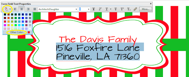 tutorial - learn how to edit Christmas address labels