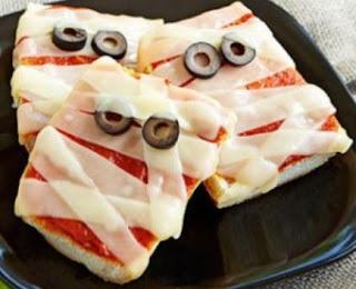 Pizza de Halloween - Receitas salgadas de Halloween