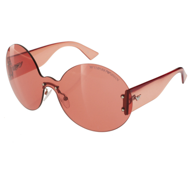Frosty Mint: Emporio Armani Red Round Frameless Sunglasses