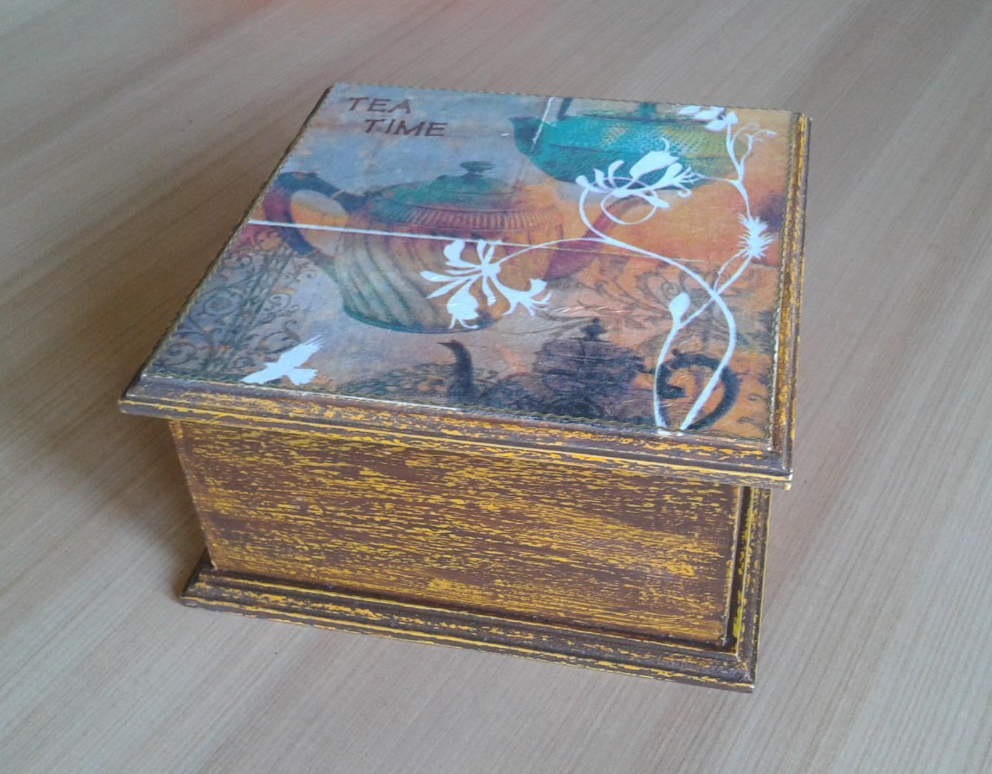 Caja Para el Té Tonos Café y