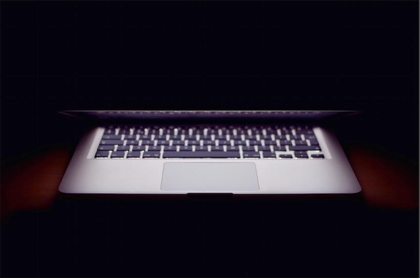 Morgan's Milieu | Are You a Writer?: Lit up Macbook Air.