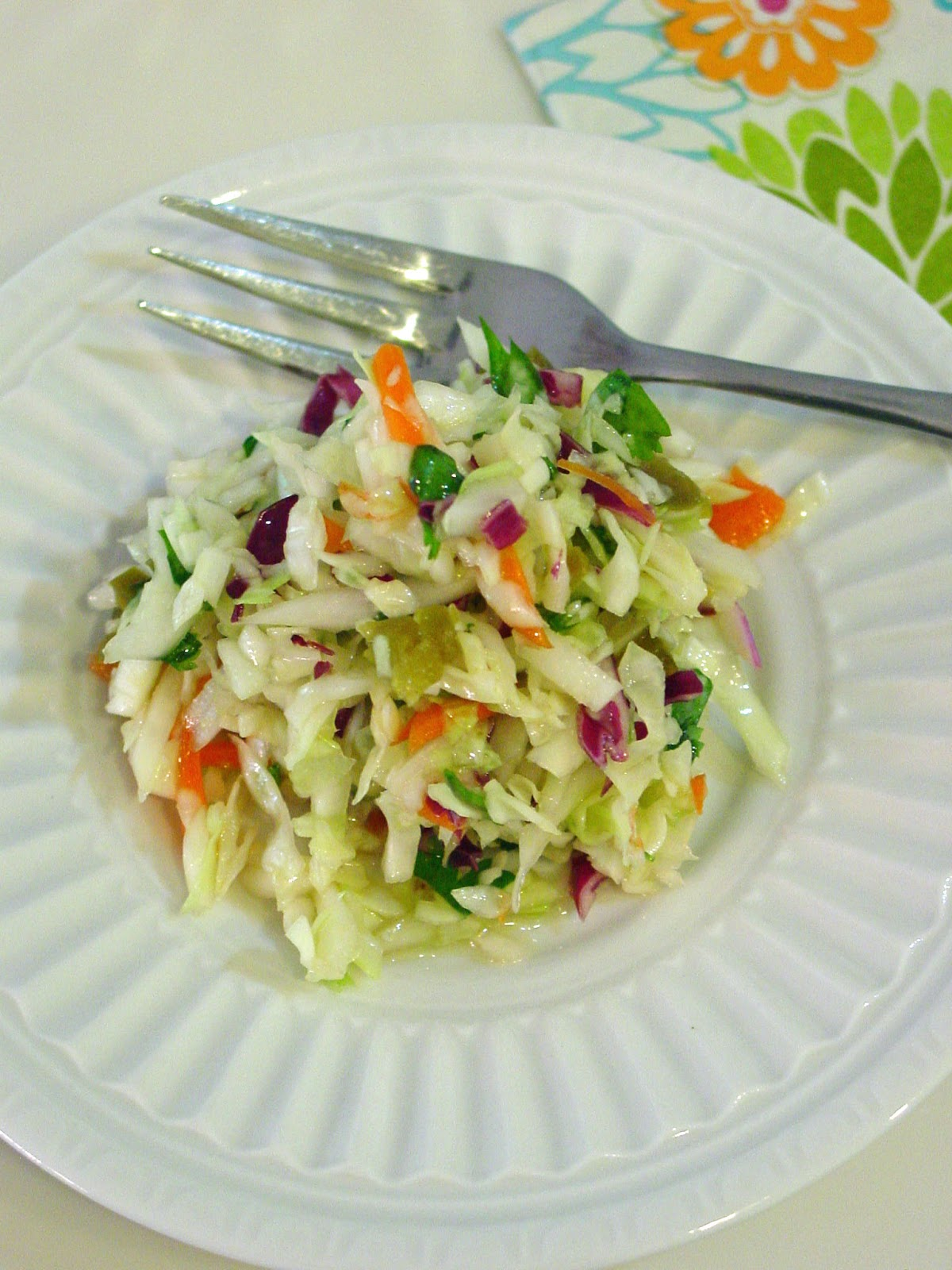 Soup Spice Everything Nice: Spicy Cilantro Coleslaw